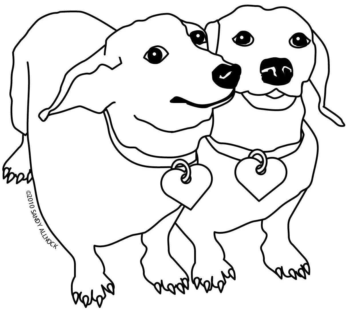 1224x1097 Its A Colourful World Dachshund Coloring Pages