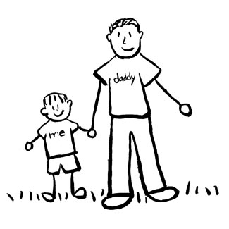 325x325 Father And Son Family Art (Drawing)