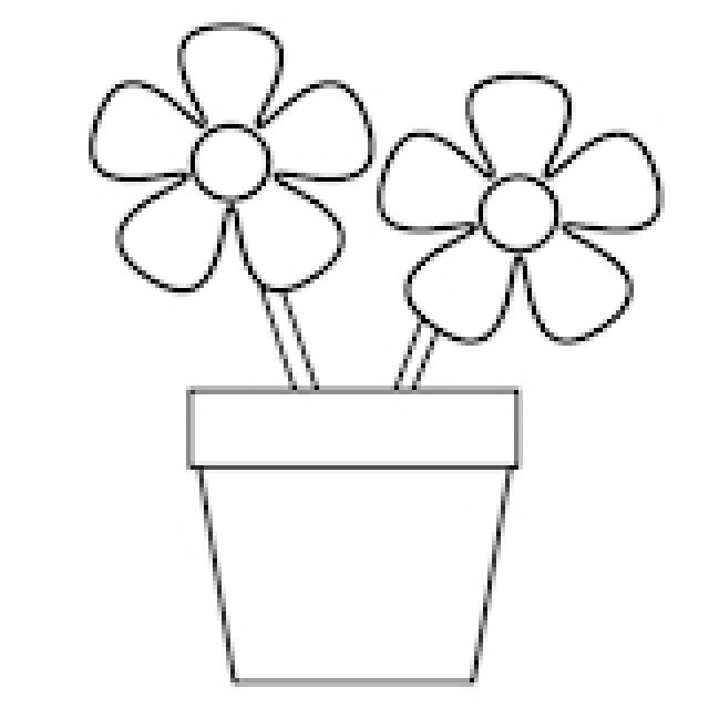 1019x1065 Daffodil Coloring Pages Free 1 640x640 Flower Pot Clipart Outline