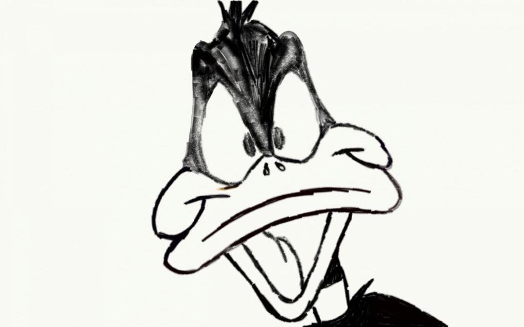 1024x640 Cartoon Pencil Drawing Daffy Duck Pencil Drawing Joshuadrawsthings