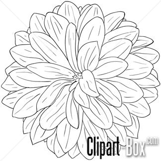 324x324 Dahlia Flower Clip Art