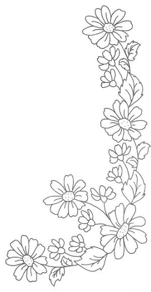 300x580 Daisy Chain By Eleandmac Wool Applique Daisy Chain