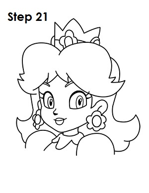 300x388 How To Draw Princess Daisy