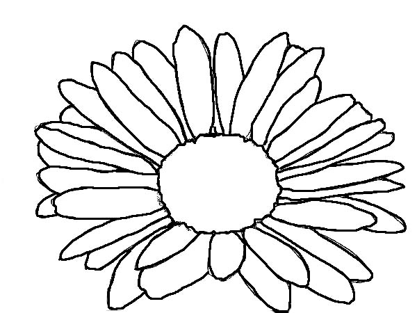 600x450 Kids Drawing Of Daisy Flower Coloring Page