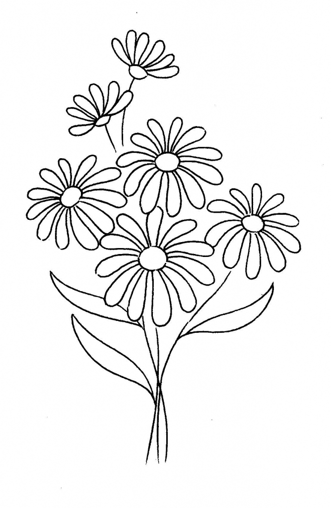 667x1024 Simple Daisy Drawing