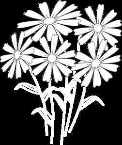 252x299 Daisy Outline Clip Art