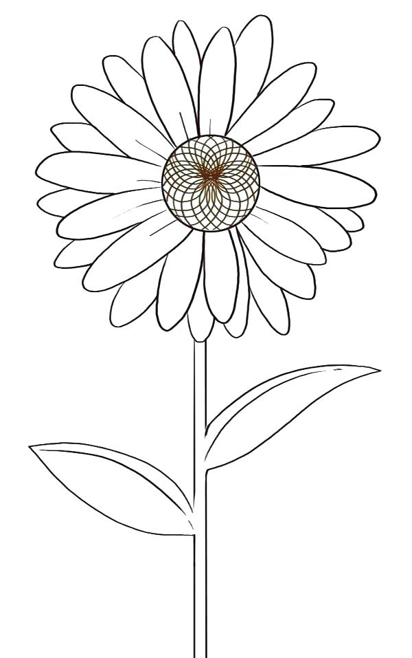 600x957 Daisy Coloring Pages I On Daisy Flower Coloring Pages Outline P