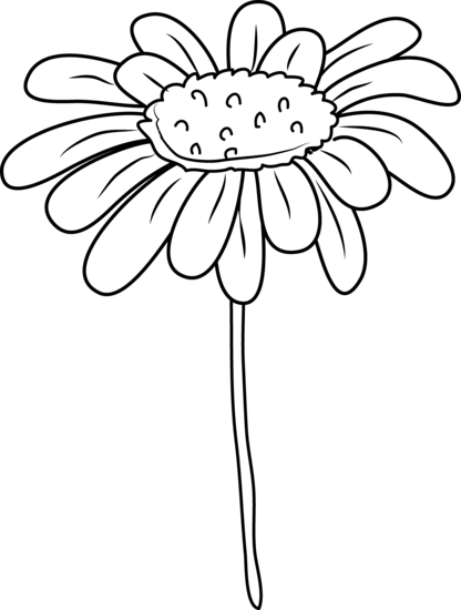 416x550 Daisy Flower Coloring Page