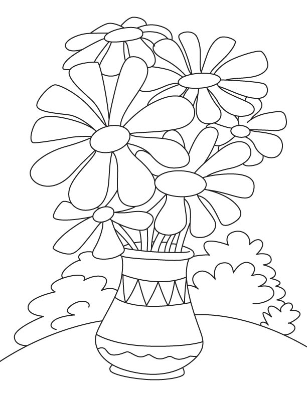 612x792 Daisy Flower Pot Coloring Page Download Free Daisy Flower Pot