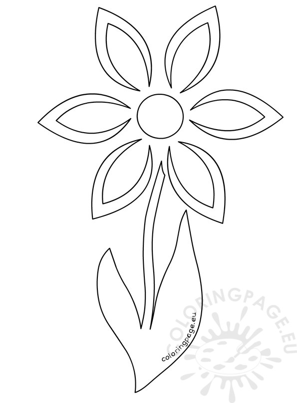 595x808 Daisy Flower Stem Template Coloring Page