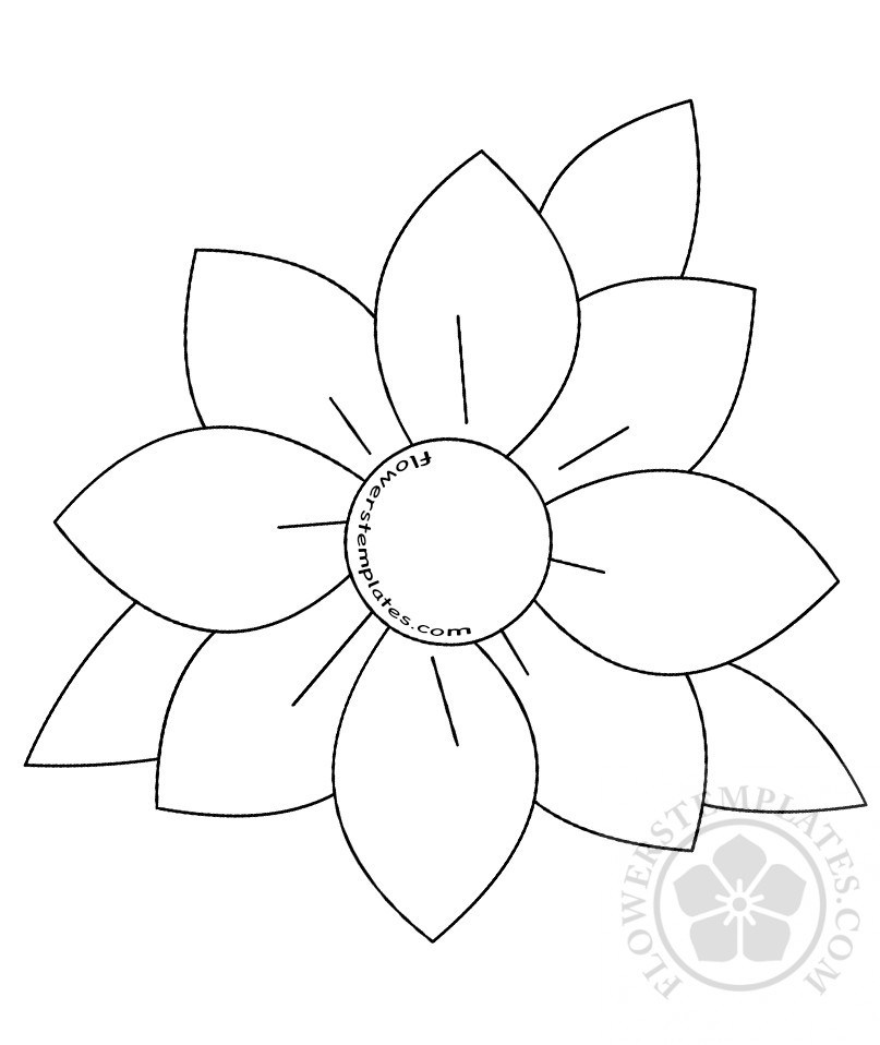 807x958 Flowers Templates Free Templates, Shapes, Pattern And Crafts