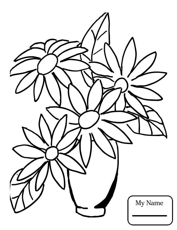624x808 Daisy Daisies Flowers Coloring Pages For Kids