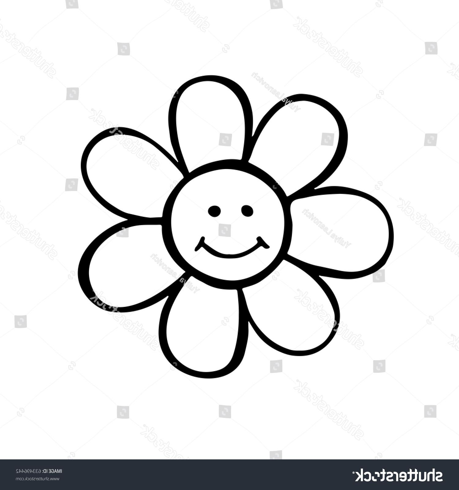 1500x1600 Top 10 Stock Vector Daisy Flower Hand Drawn Smiling Illustration