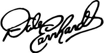 350x179 Earnhardt Signature, Vinyl Cut Decal