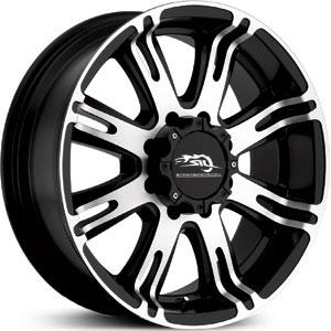 300x300 18x9 Dale Earnhardt Jr 708 Ribelle Matte Blackmachined Rwd Wheels
