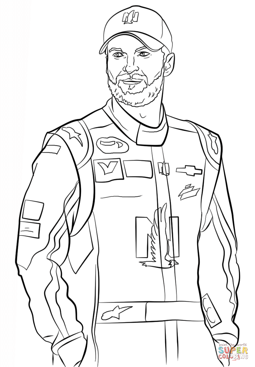 824x1186 Nascar Coloring Pages Dale Earnhardt Jr Coloring Page For Kids