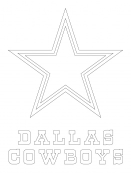 262x350 Dallas Cowboys Logo Crafts