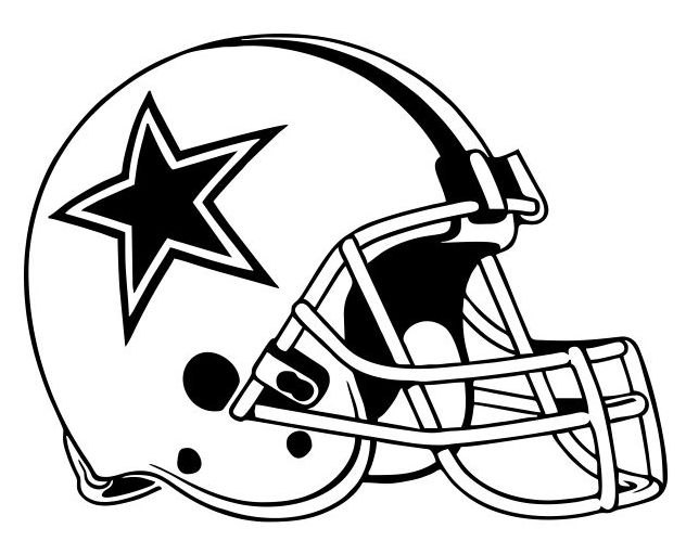 Dallas cowboys drawing at free for for Dallas cowboys logo coloring page