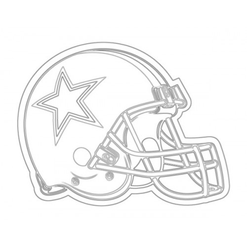 500x500 Cowboys Helmet Sketch for Canvas Painting