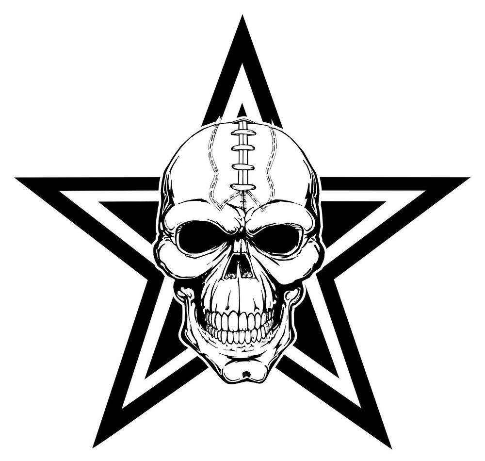 1000x950 Custom Dallas Cowboys Football Skull T Shirt Cowboys, Dallas