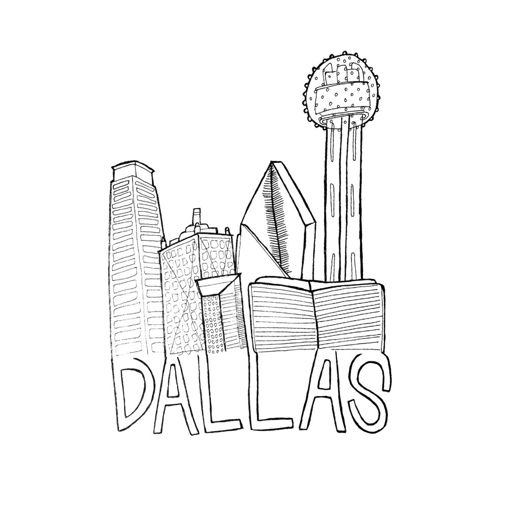 1000x1000 Dallas City Print That First Year