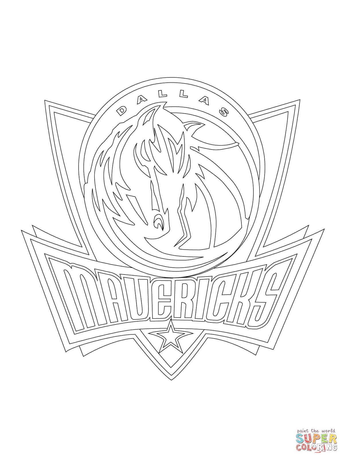 1200x1600 Dallas Mavericks Logo Coloring Page Free Printable Coloring Pages