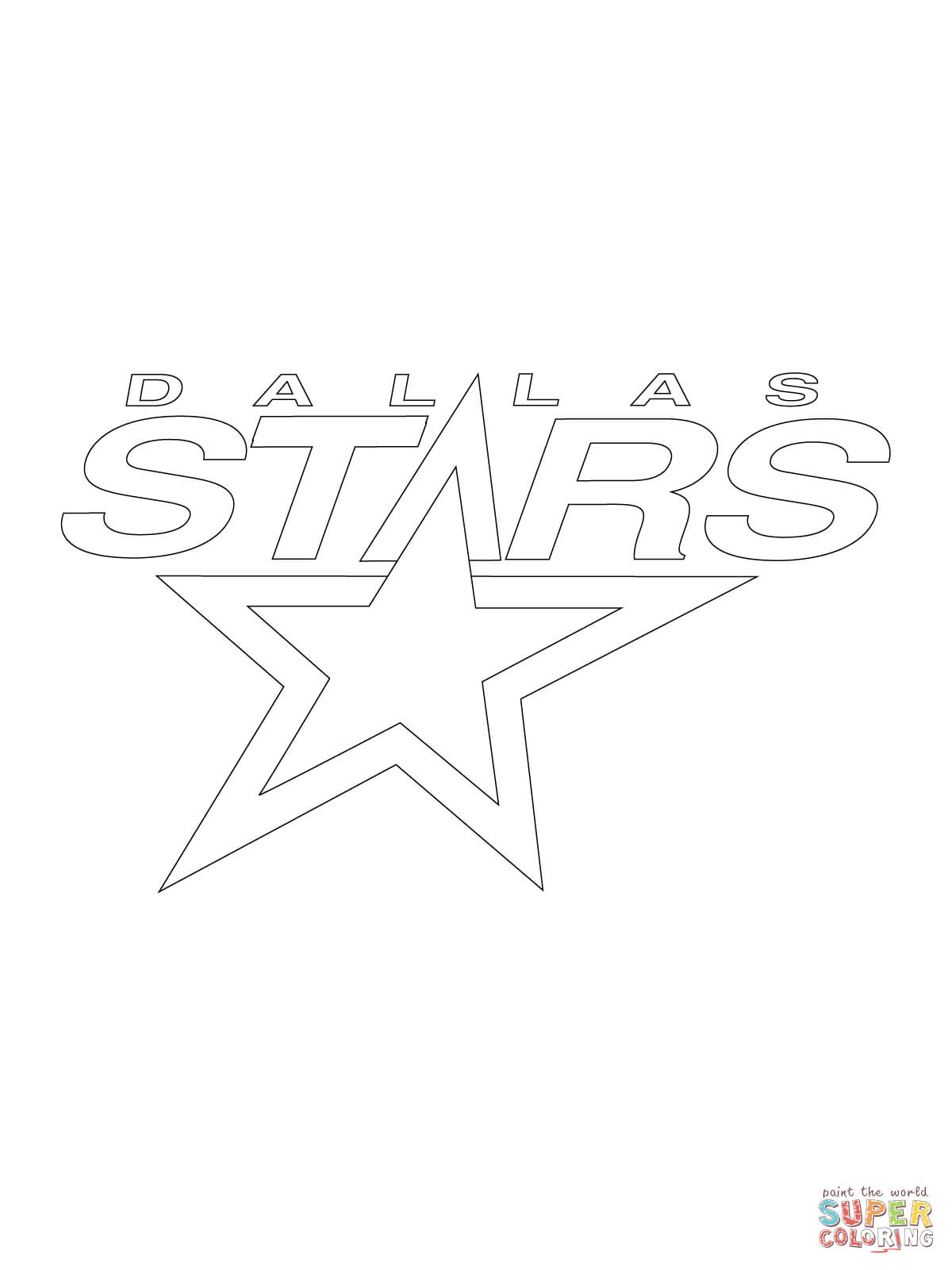 1200x1600 Dallas Stars Logo Coloring Page Free Printable Coloring Pages