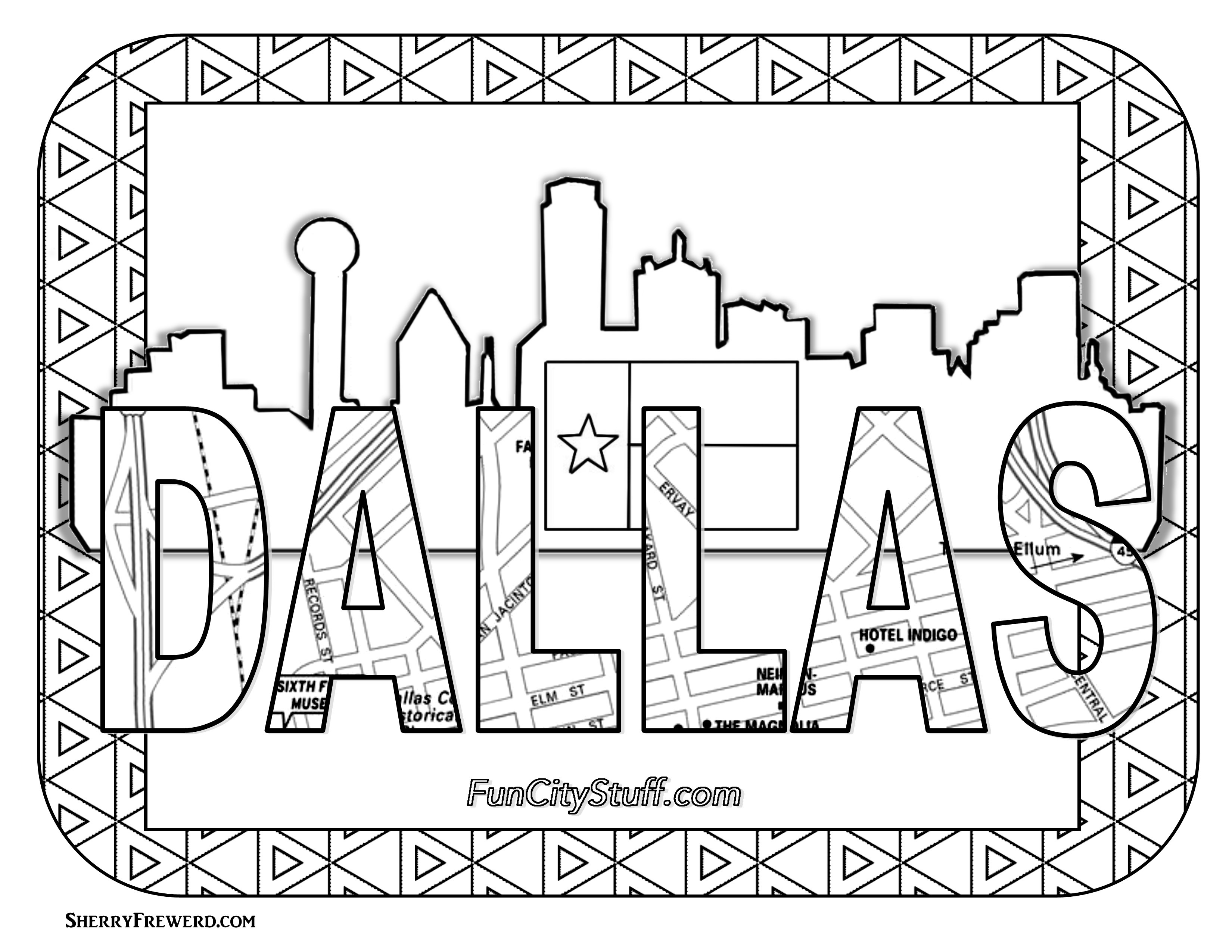 3300x2550 Texas Coloring Page Unique Color Your Cares Away Texas Style