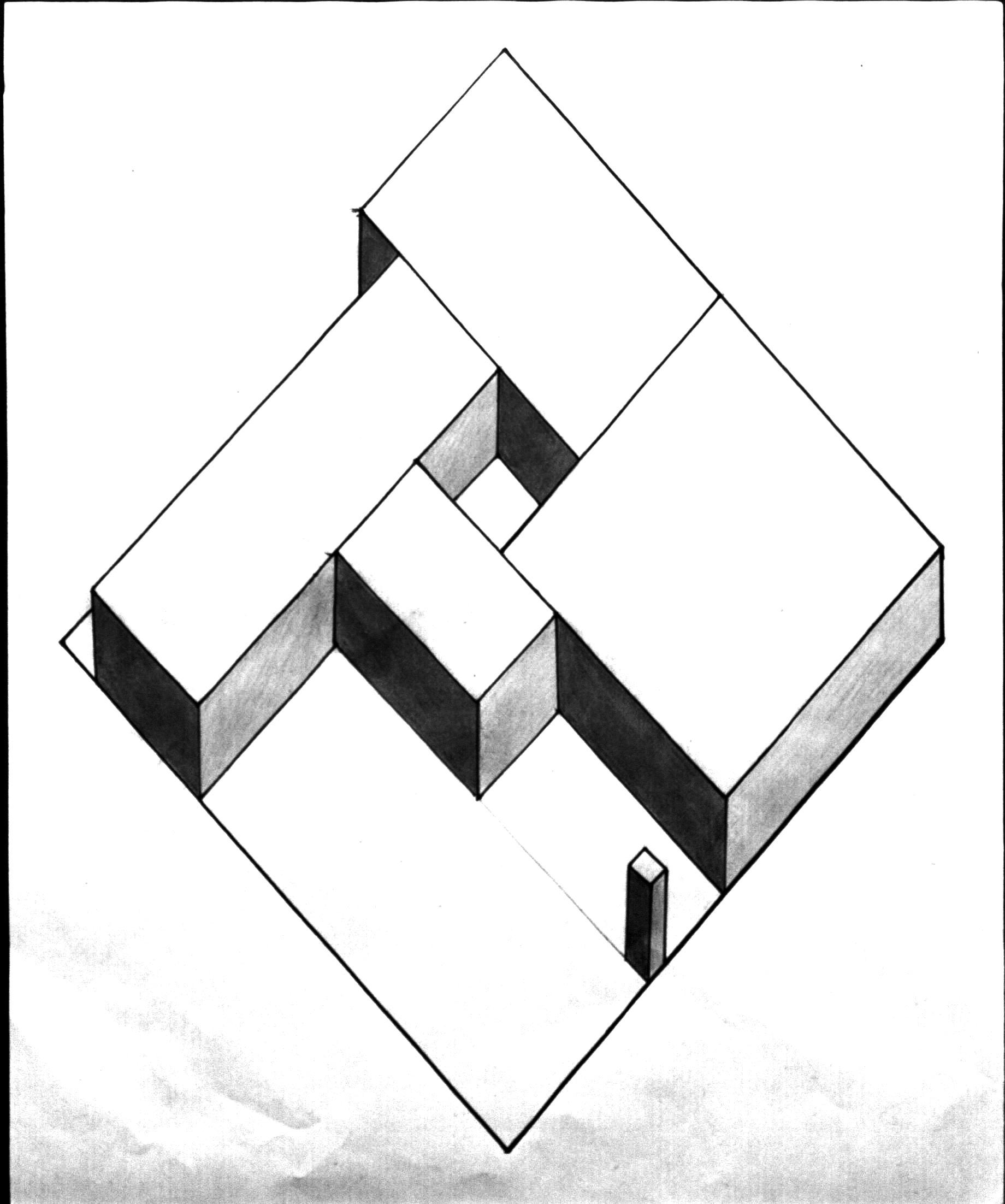 1840x2204 Axonometric Drawing