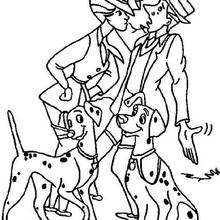 220x220 Dalmatian Puppy With A Hat Coloring Pages
