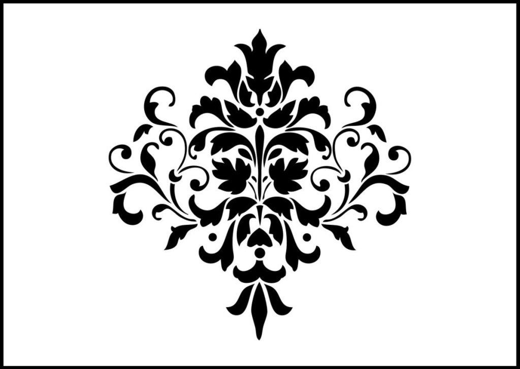 1024x727 Damask, Shabby Chic Stencil Laser Craft Design