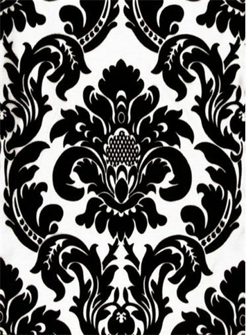 355x484 Dior Damask Black White Drapery Fabric