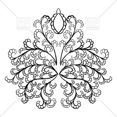 400x400 Emblem In Damask Style Royalty Free Vector Clip Art Image