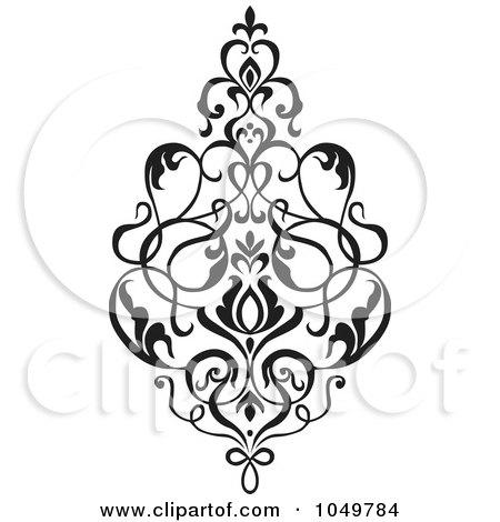 450x470 Royalty Free (Rf) Clip Art Illustration Of A Black Vintage Elegant