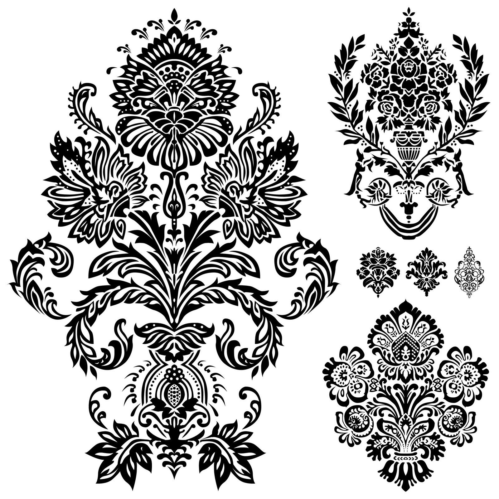 1600x1600 Shery K Designs Free Digi Stamps Flourish Ornaments Damask