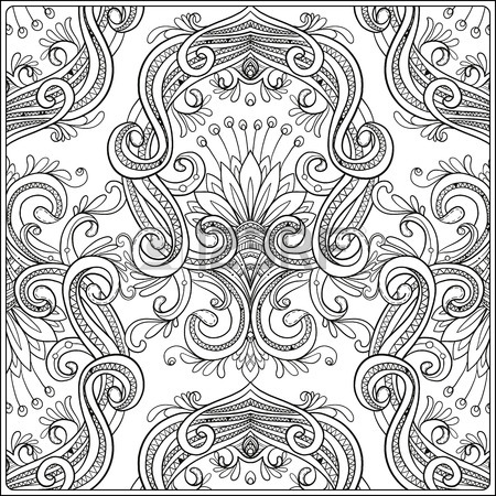 450x450 Vintage Background Brown Baroque Pattern. Damask Pattern Element