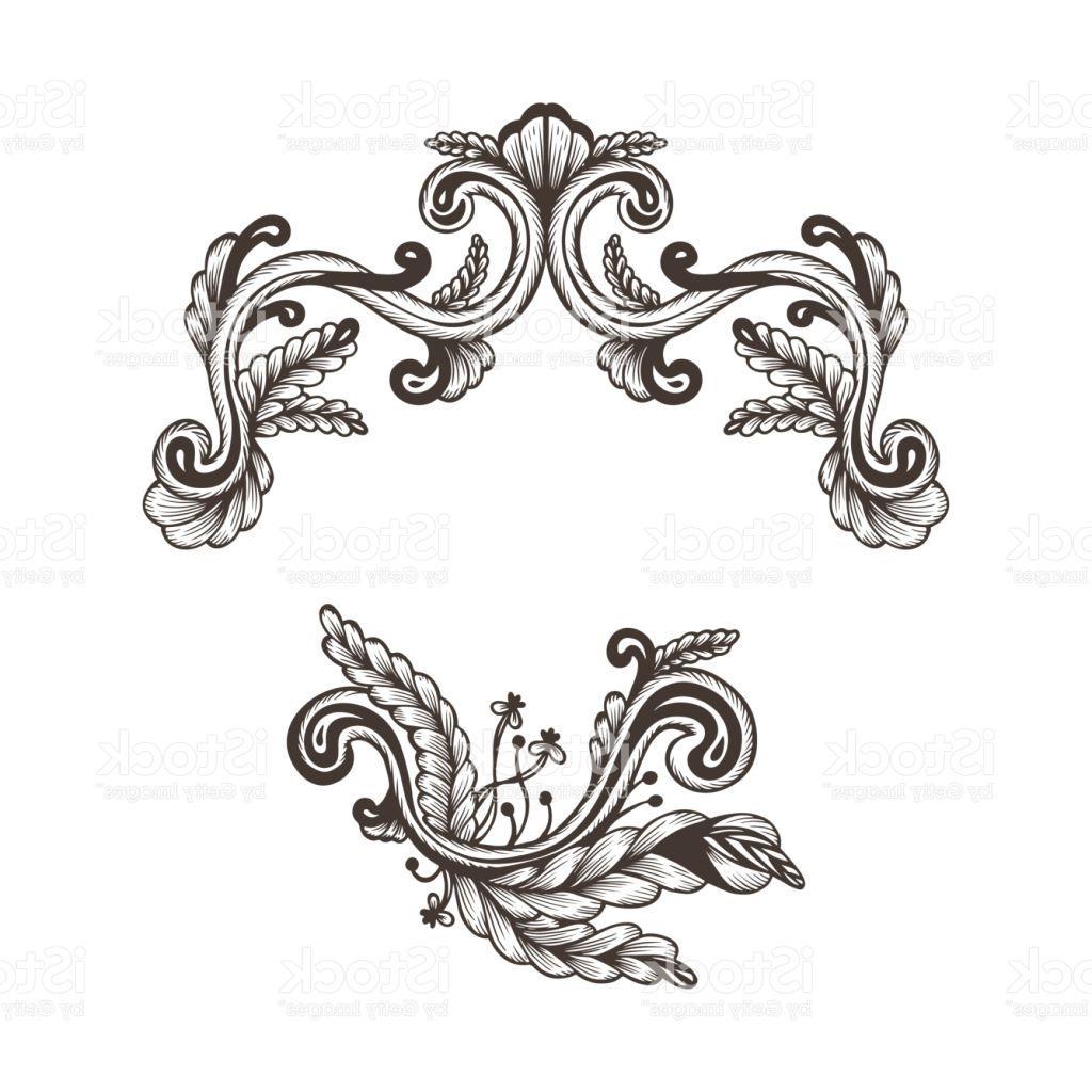 1024x1024 Best Hand Drawn Vintage Damask Ornamental Elements For Design