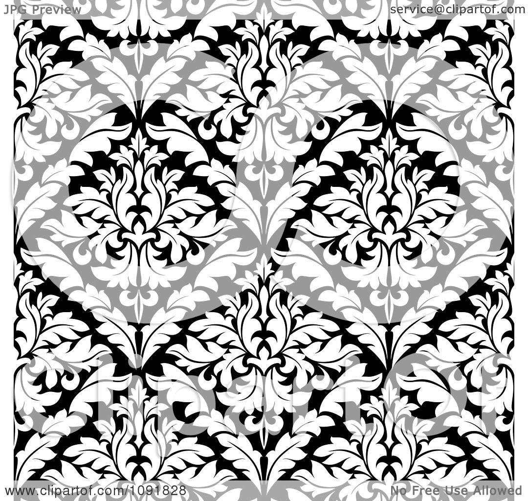 1080x1024 Clipart Black And White Triangular Damask Pattern Seamless