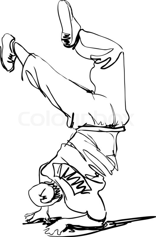527x800 Guy Dancing Break Dance Stock Photo Colourbox