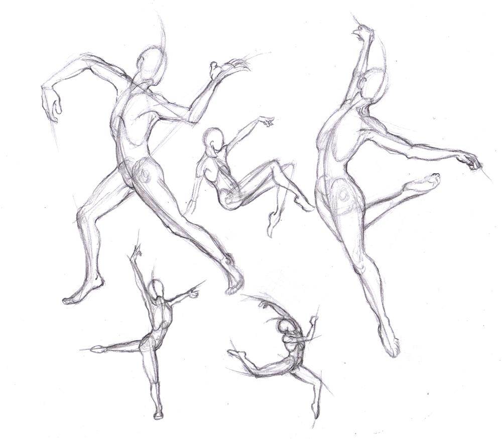 1000x875 Scribble Gesture Stick Figure Drawings