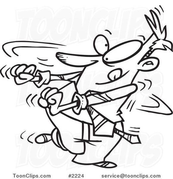 581x600 Cartoon Blacknd White Line Drawing Of Business Man Doing