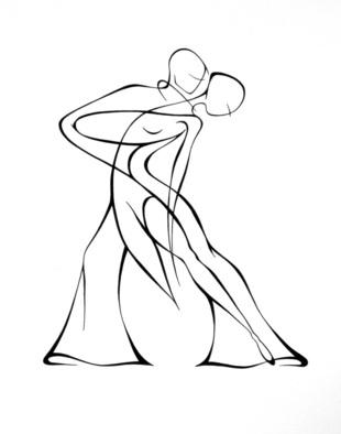 310x394 Abstract Woman Drawing