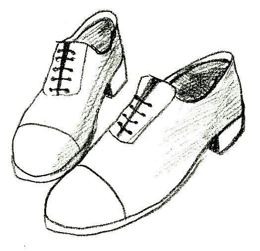 Dance Shoe Drawing