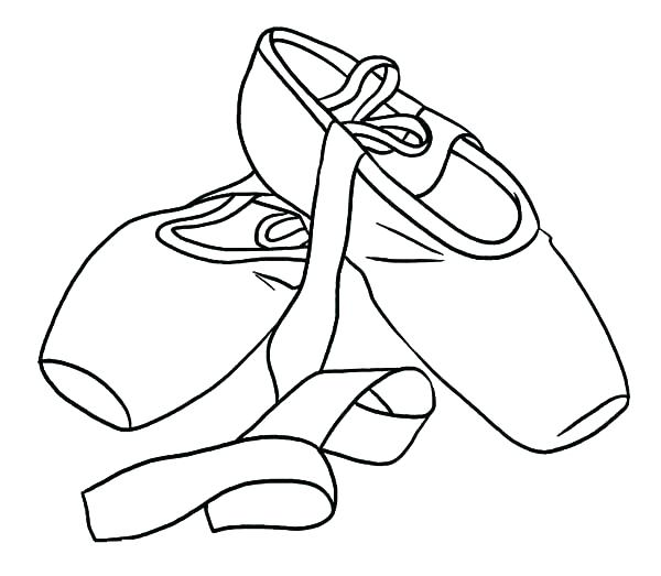 600x523 Shoes Coloring Page Shoes Coloring Pages Coloring Home Dance Shoes