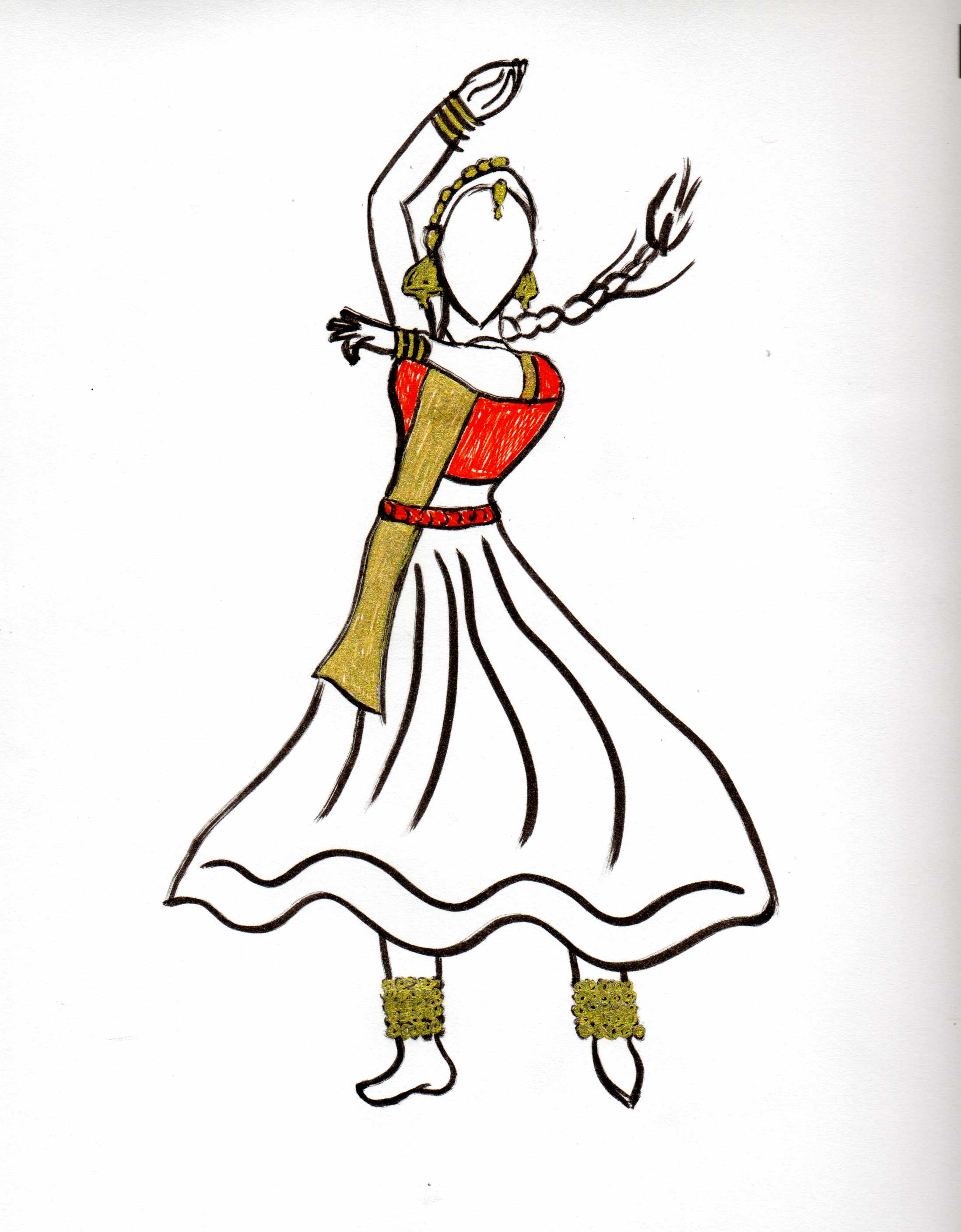 2196x2815 Images Of Bharatanatyam Drawing