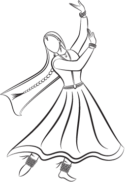 Dancer Line Drawing