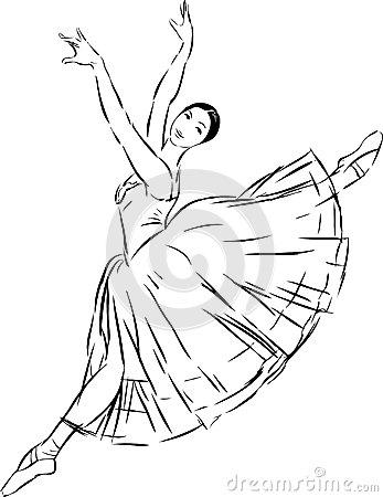 347x450 Ballet Dancer Vector Sketch Dancing Graceful Balerina 44096294.jpg