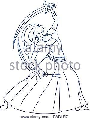 300x398 Belly Dancer Figure Gesture Sketch Line Drawing Stock Vector Art