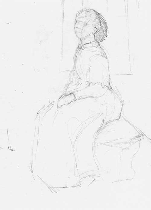 500x695 Drawing Dancers Mockingbirds