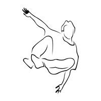 200x200 Hip Hop Hiphop Dancer Dancers Dancing Dance Dances Outline